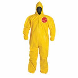 DuPont™ QC127BYL Standard Coverall With Attached Hood, Yellow, 10 mil Tychem® 2000