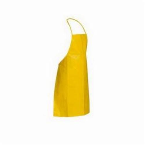 DuPont™ QC273BYL00010000 Chemical Resistant Bib Apron, Tychem® 2000, 3 ft L x 27-1/2 in W, Neck Loop/Waist Tie Closure, Resists: Chemical and Tear