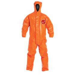 DuPont™ TP198TOR Standard Coverall With Attached Hood and Open Ankle, Orange, 34 mil Tychem® 6000 FR