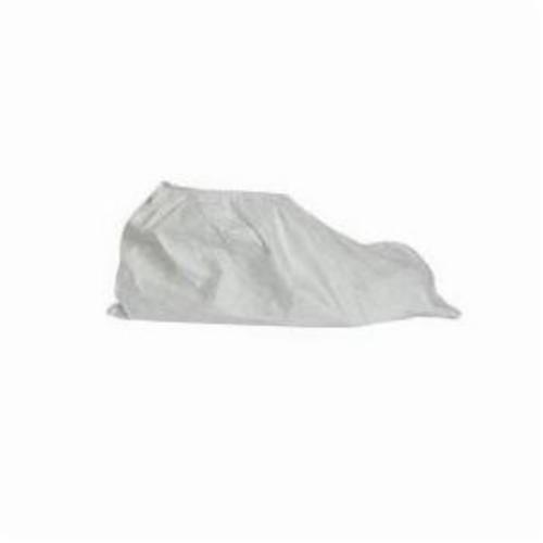 DuPont™ TY450SWH000200LG Shoe Cover, ASTM D1777, D3776, D774, D5733, D5034, D257, AATCC 127, 16 CFR 1610, L Fits Shoe, White, Elastic Top Closure, Tyvek® Outsole, Resists: Light Liquid Splash, Slip, Hazardous and Non-Hazardous Particles