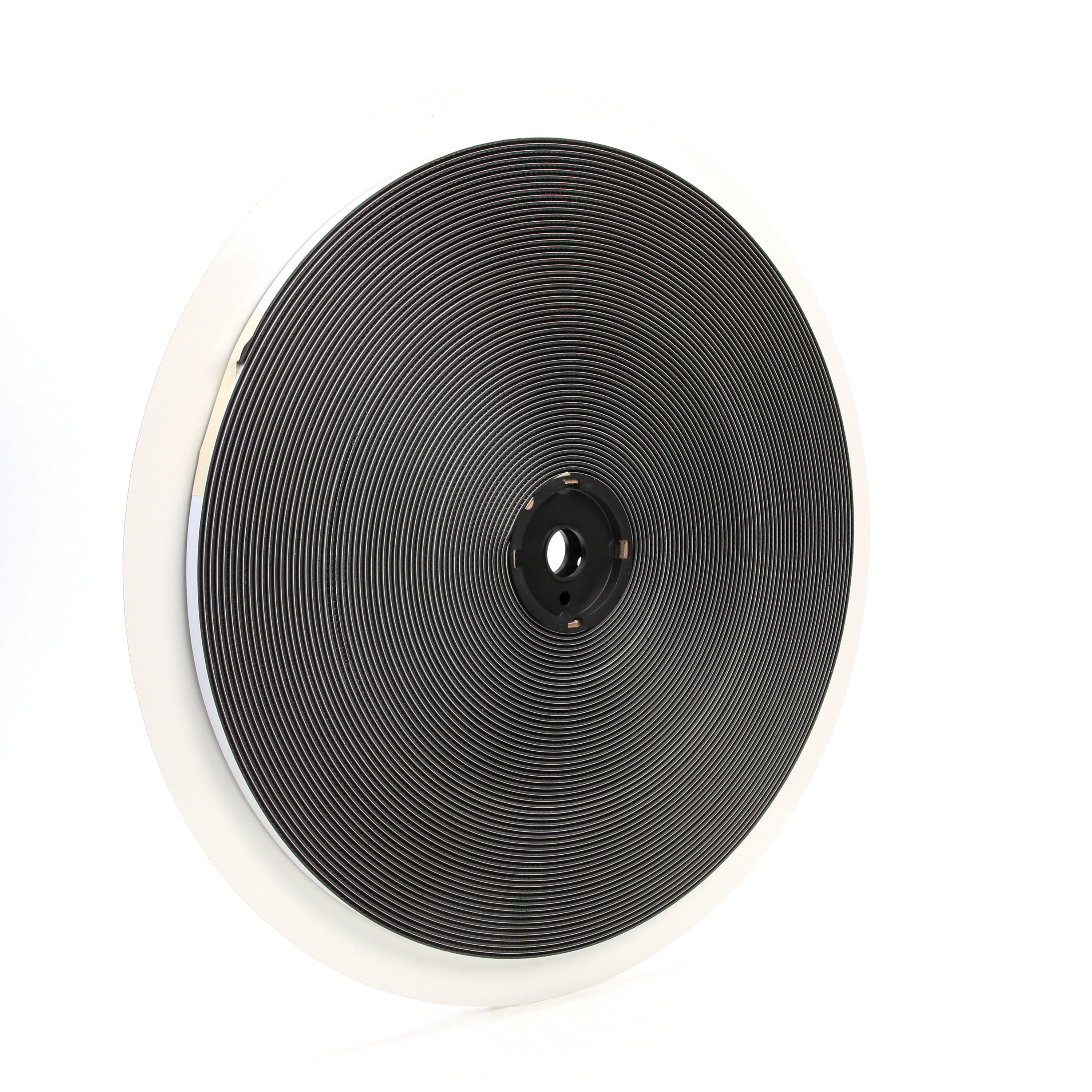 3M™ Dual Lock™ 021200-86347 Mushroom Shaped Reclosable Hook and Loop Fastener Tape, 50 yd L x 1/2 in W, 0.23 in THK Engaged, Synthetic Rubber Adhesive, Polypropylene Backing, Black
