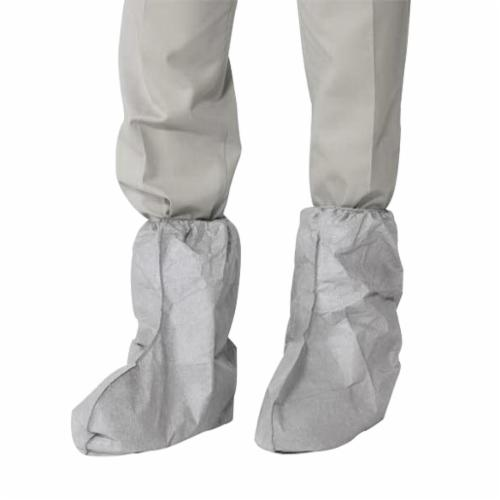 DuPont™ FC454SGY00010000 Boot Cover, Universal Fits Shoe, Gray, Elastic Closure, Tyvek® Outsole, Resists: Slip, Specifications Met: ASTM D1117, D3776, D5733, D5034