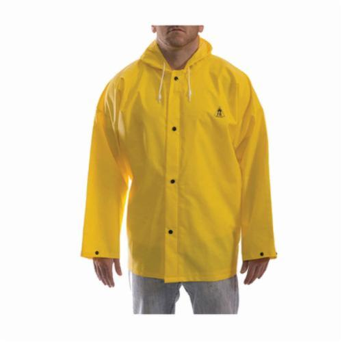 Tingley DuraScrim™ J56107-3X High Strength Flame Resistant Jacket, Yellow, PVC Coated Polyester, 56 to 58 in Chest, Resists: Abrasion, Chemicals, Flame, Mildew and Water, Specifications Met: ASTM D6413