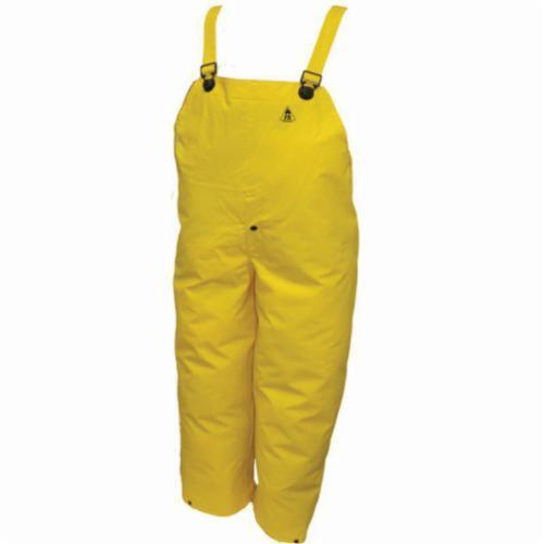 Tingley DuraScrim™ O56107-SM 2-Piece Bib Overall, Unisex, S, Yellow, 10.5 mil PVC on Polyester Scrim, 28 in L Inseam