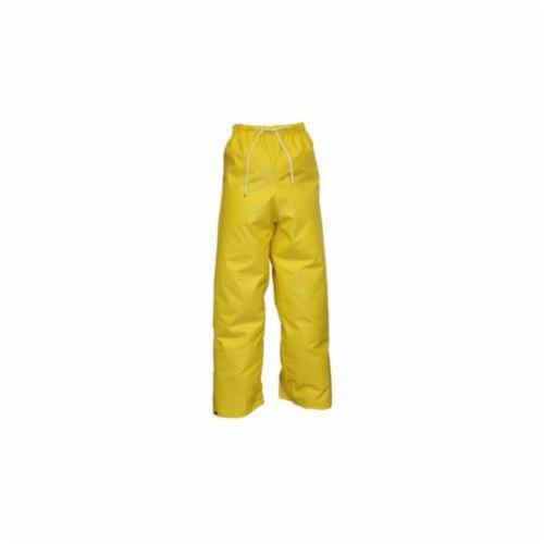 Tingley DuraScrim™ P56007-2X P56007 High Strength Plain Front Pant With Fly Front and Raglan Shoulder, Men's, 54 in Waist, 32 in L Inseam, Yellow, PVC on Polyester Scrim
