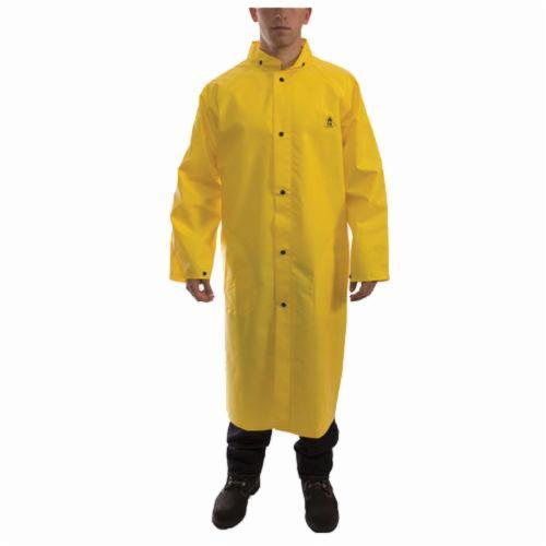 Tingley DuraScrim™ Safetyflex® C56207-3X Rain Coat, Unisex, 3XL, Yellow, Polyester/PVC, Resists: Many Acids, Oils, Alcohols, Salts and Alkalies, Specifications Met: ASTM D6413