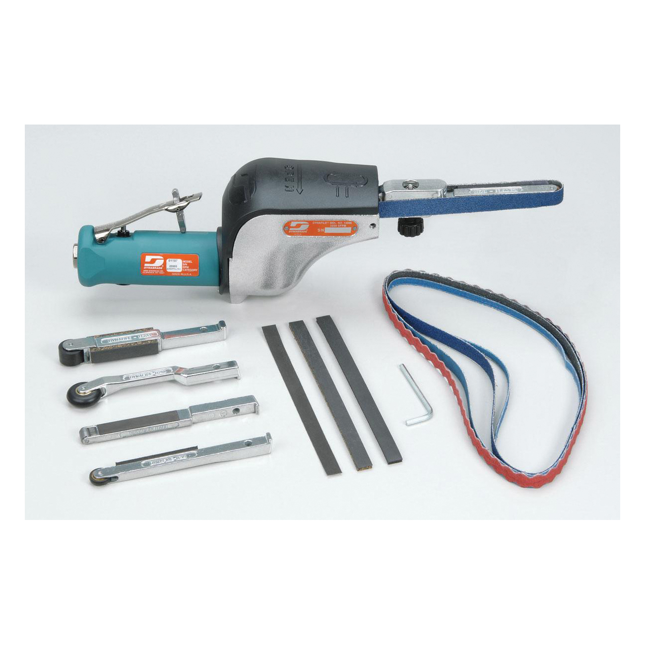 Dynabrade® Dynafile® 14010 Straight Line Abrasive Belt Tool Versatility Kit, 24 in L x 1/8 to 1/2 in W, 0.5 hp, 31 scfm, 90 psi