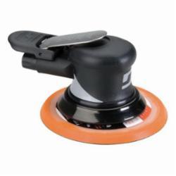 Dynabrade® Dynorbital® Supreme 56830 Central Vacuum Palm Style Random Orbital Sander, 6 in Round Pad, 18 scfm Air Flow, 90 psi