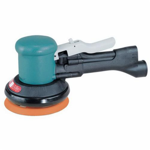Dynabrade® DynaLocke® 58430 Non-Vacuum Dual Action Sander, 5 in Round Pad, 23 scfm Air Flow, 90 psi, Hook and Loop Pad Grip Method