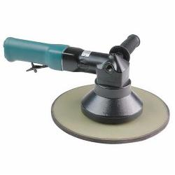 Dynabrade® Dynorbital® 58480 Non-Vacuum Right Angle Random Orbital Sander, 11 in Round Pad, 27 scfm Air Flow, 90 psi, Hook and Loop Pad Grip Method