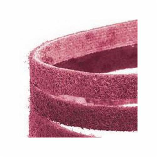 Dynabrade® DynaBrite® 78025 Good Tier File Surface Conditioning Non-Woven Abrasive Belt, 3/4 in W x 18 in L, Medium Grade, Aluminum Oxide Abrasive, Maroon