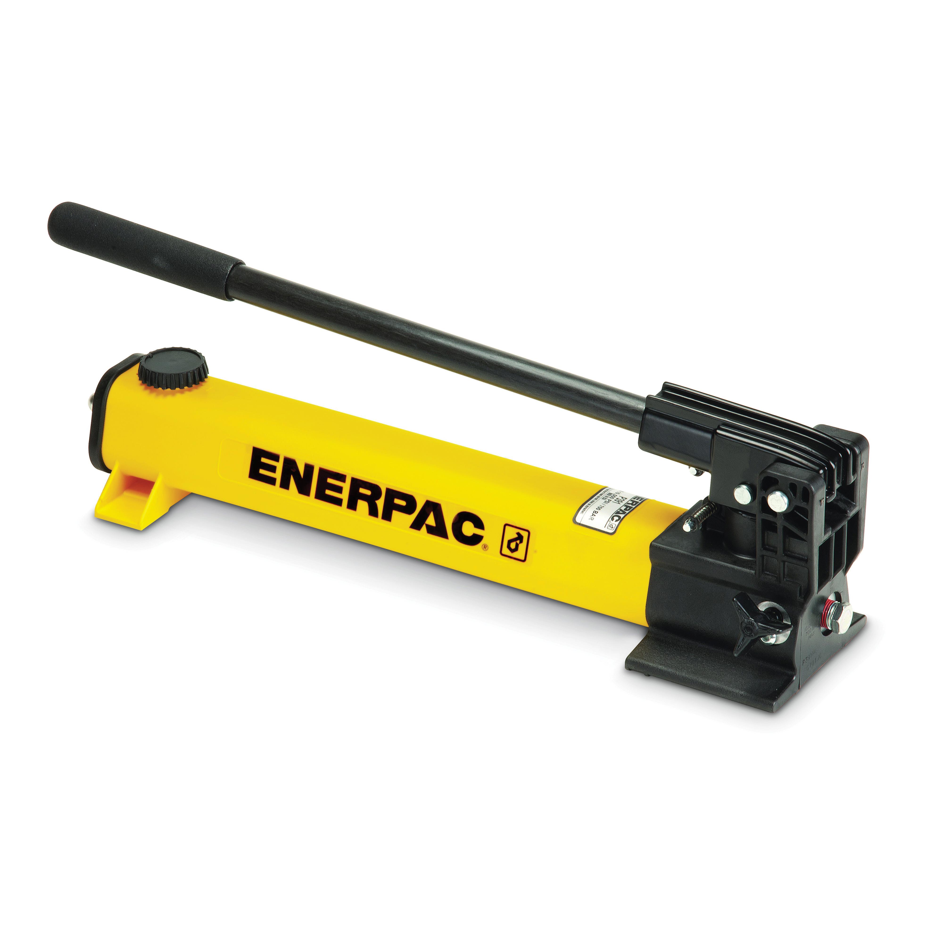 Enerpac® P-391 P-Series 1-Speed 2-Stage Lightweight Hydraulic Hand Pump, 55 cu-in Tank