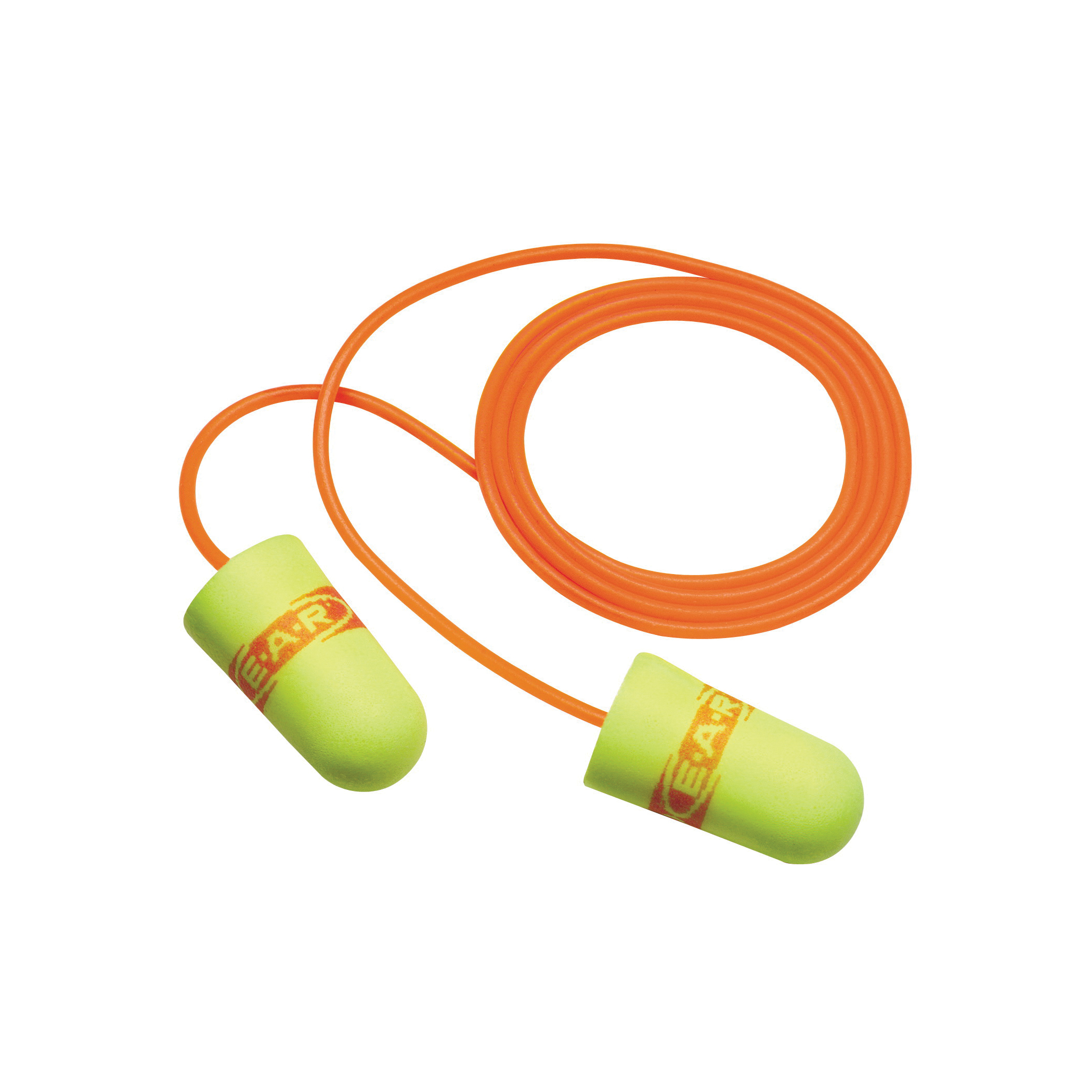 3M™ E-A-R™ 3M™ E-A-Rsoft™ 080529-11059 SuperFit™ Earplugs, 33 dB Noise Reduction, Tapered Shape, CSA Class AL, Disposable, Corded Design