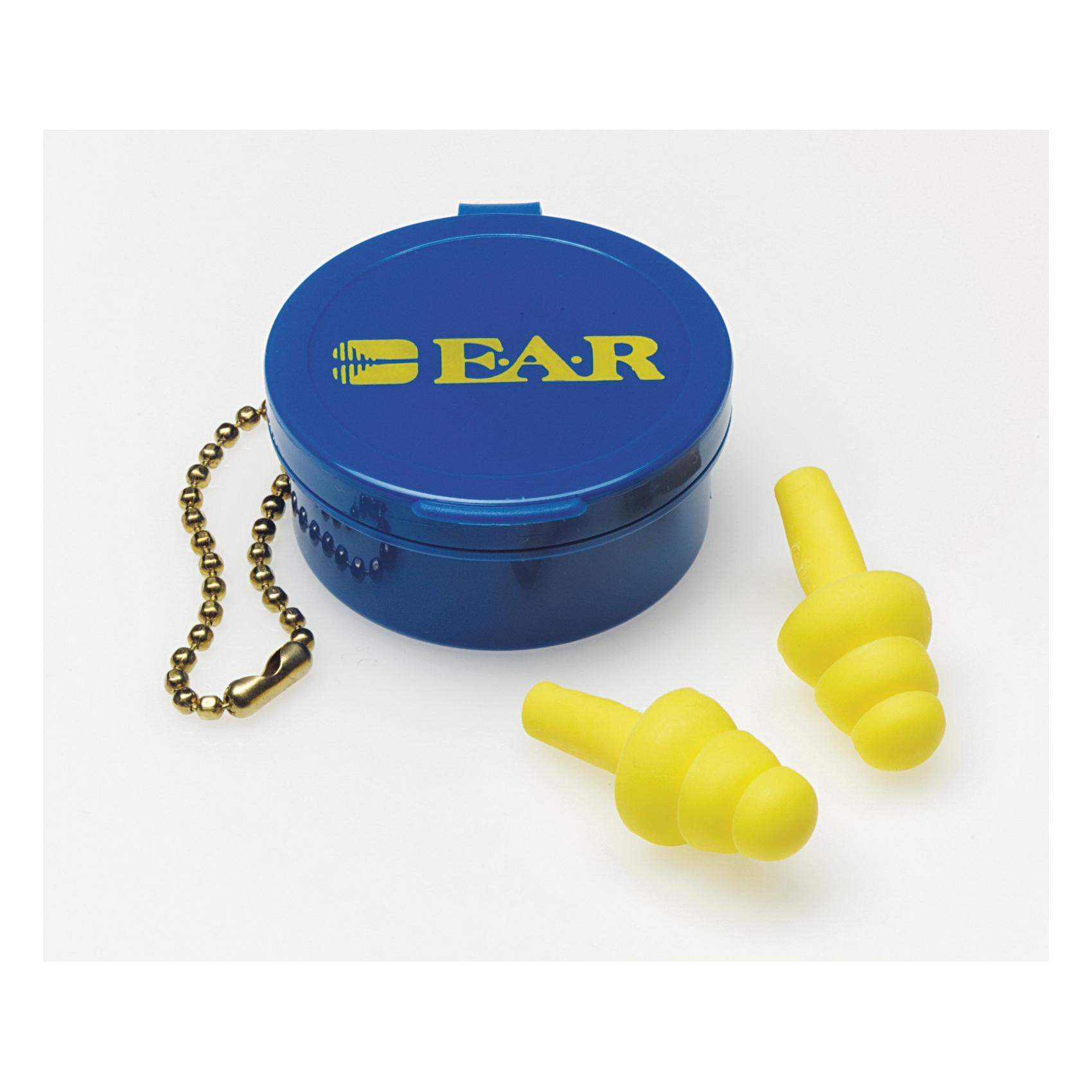 3M™ E-A-R™ 080529-40000 UltraFit™ Earplugs, 25 dB Noise Reduction, Multi-Flange Shape, CSA Class AL, Reusable, Uncorded Design