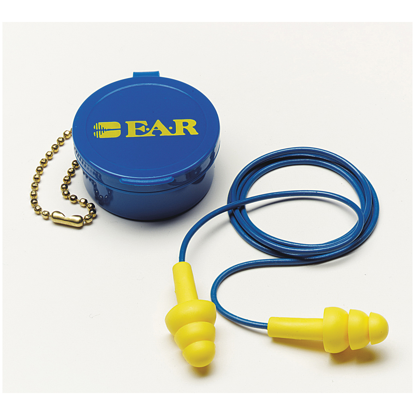 3M™ E-A-R™ 080529-40001 E-A-R UltraFit Corded Ear Plug, 25 dB Noise Reduction, Flange, Specifications Met: ANSI S3.19-1974, CSA Certified Class AL, Reusable