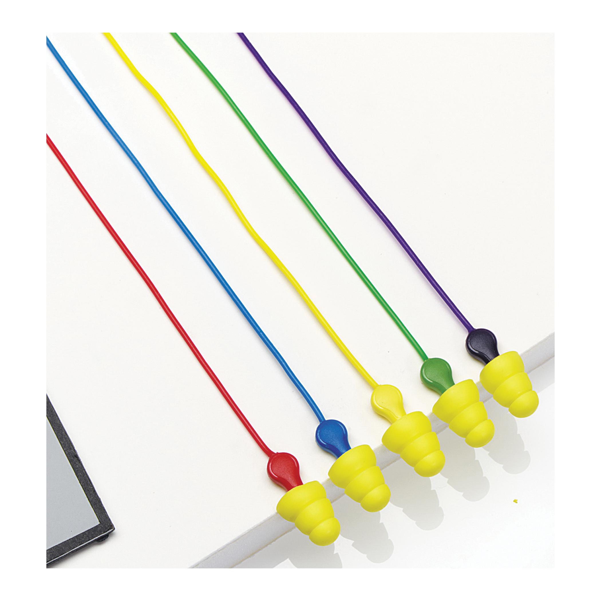 3M™ E-A-R™ 080529-40042 UltraFit Plus™ Earplugs, 26 dB Noise Reduction, Multi-Flange Shape, CSA Class AL, Reusable, Corded Design