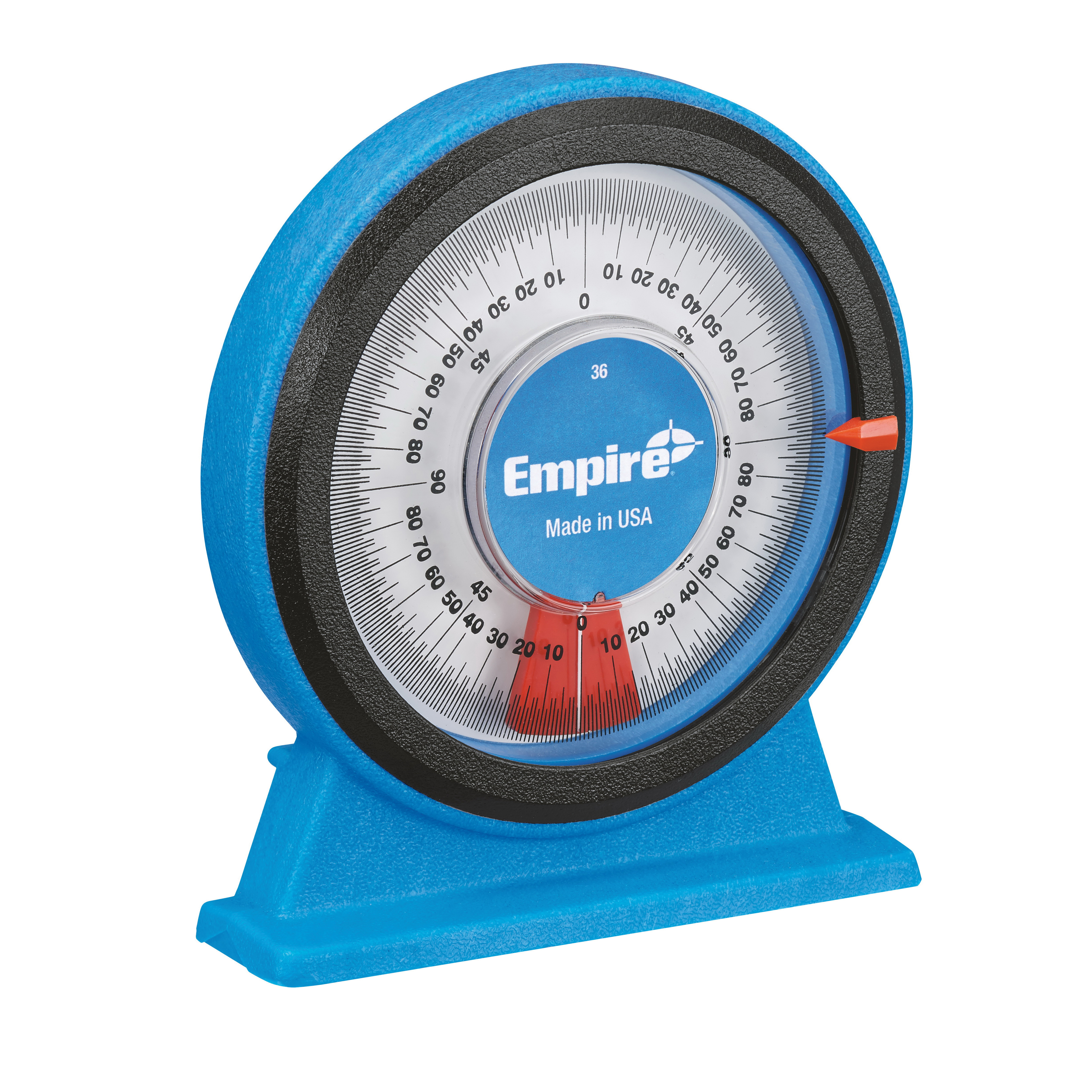 Milwaukee® Empire® 36 Large Magnetic Protractor, 0 to 360 deg Measuring, 4-1/4 in L, 5.812 in Blade, Graduations 1/16 in, Polycast
