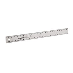 Empire® 4002 1-Stage Heavy Duty Straight Edge, SAE Measuring System, Graduations 8th and 16th Graduations, Aluminum