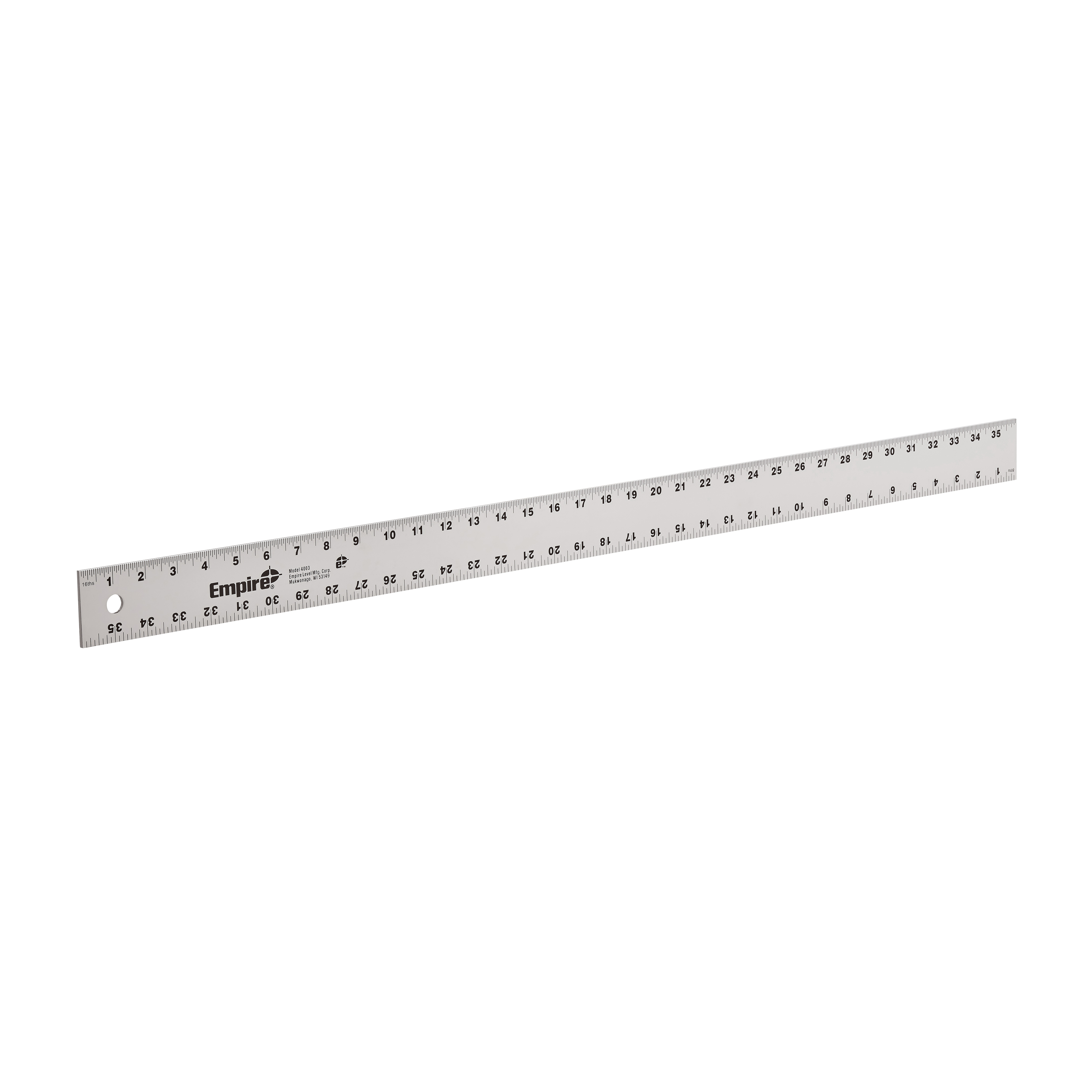Empire® 4003 1-Stage Heavy Duty Straight Edge, SAE Measuring System, Graduations 8th and 16th Graduations, Aluminum