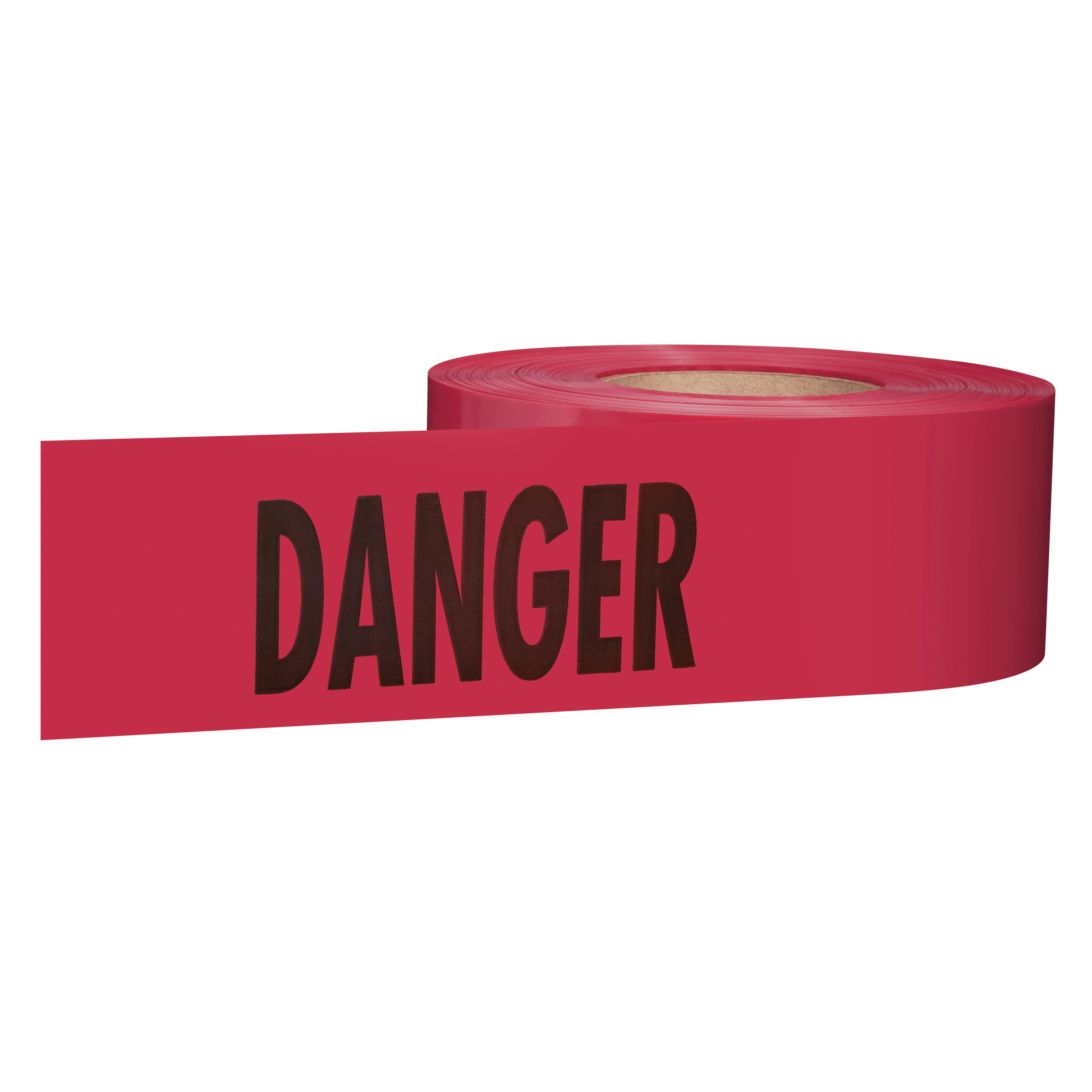 Milwaukee® Empire® 77-1004 Premium Barricade Tape, Red, 3 in W x 1000 ft L, Danger/Danger, Plastic