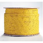 Erin Rope TWPY120600 3-Strand Premium Twisted Rope, 3/8 in Dia x 600 ft L, Yellow, Polypropylene