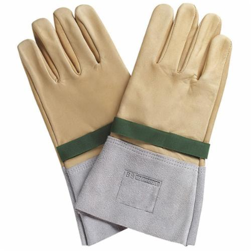 Facom® FT-BC.109VSE Safety Gloves, SZ 9, Silicon Leather, Beige/Gray, 12-19/32 in L