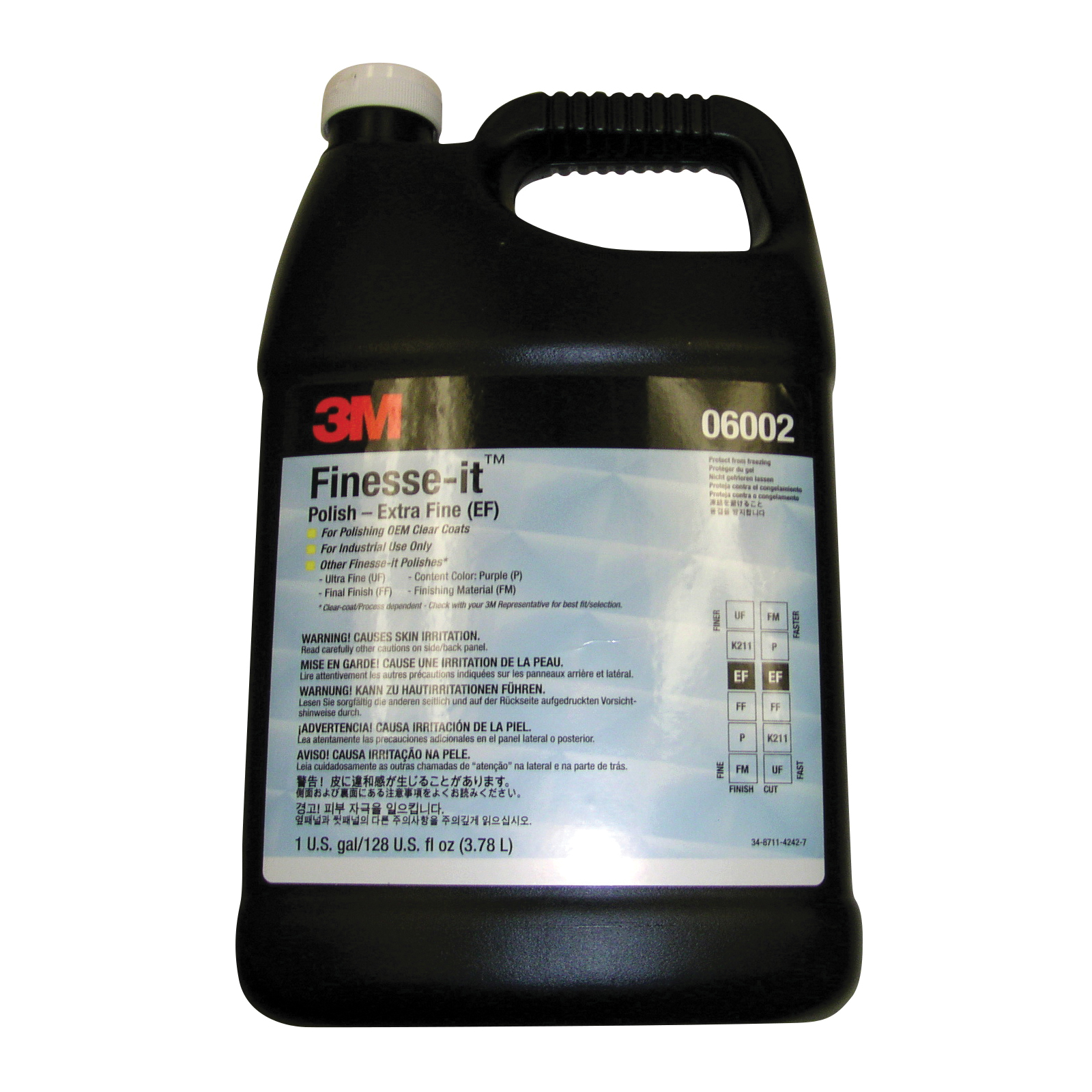 3M™ Finesse-it™ 051131-06002 Extra Fine Polishing Compound, 1 gal Bottle, White, Extra Fine Grade