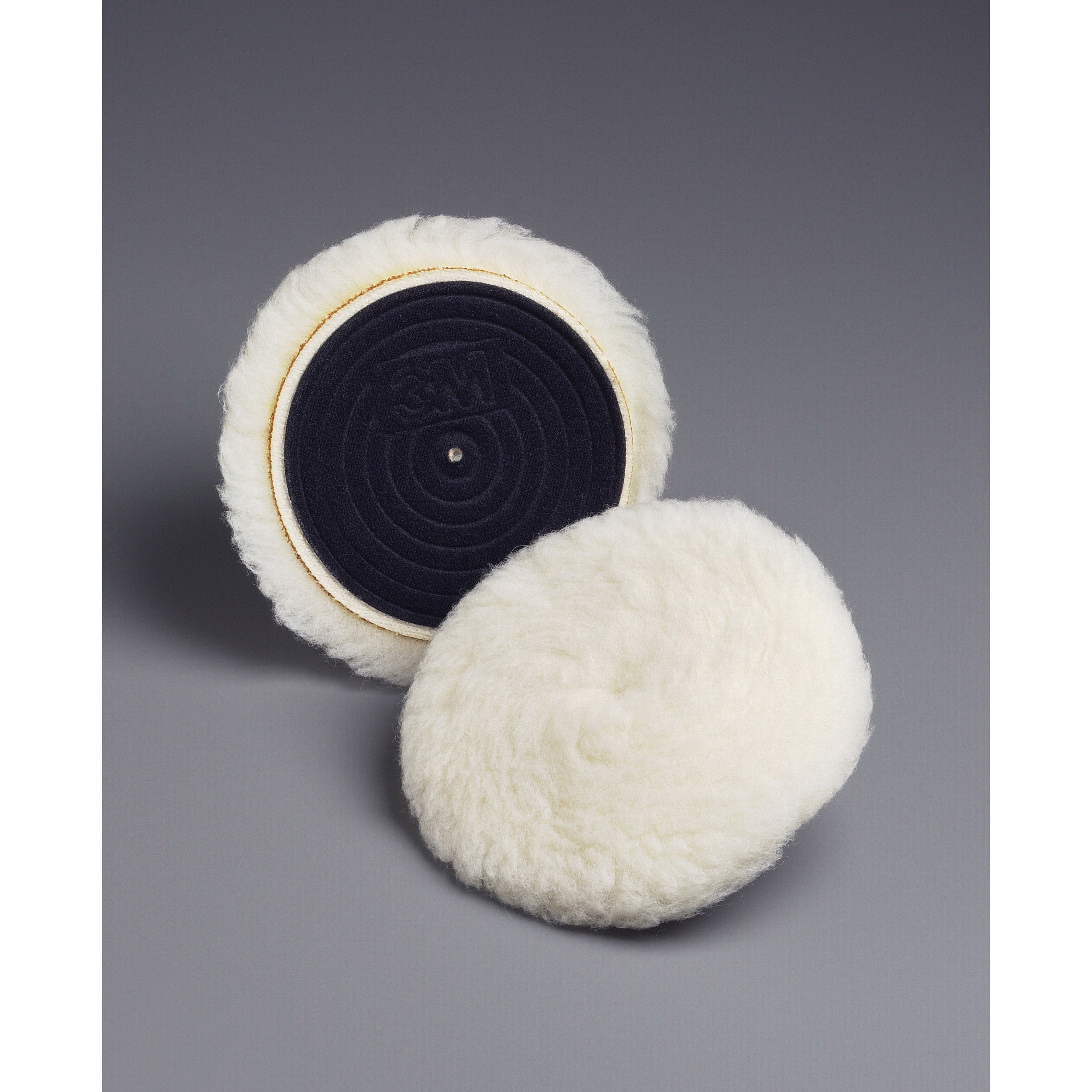 Finesse-it™ 051144-85083 Knit II Regular Buffing Pad, 5-1/4 in OAD, 0.94 in THK, Hook and Loop Attachment, Wool Pad