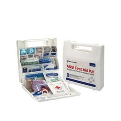 First Aid Only® 225-AN First Aid Kit, Wall Mount, 196 Components, Plastic Case, 11-1/4 in H x 3 in W