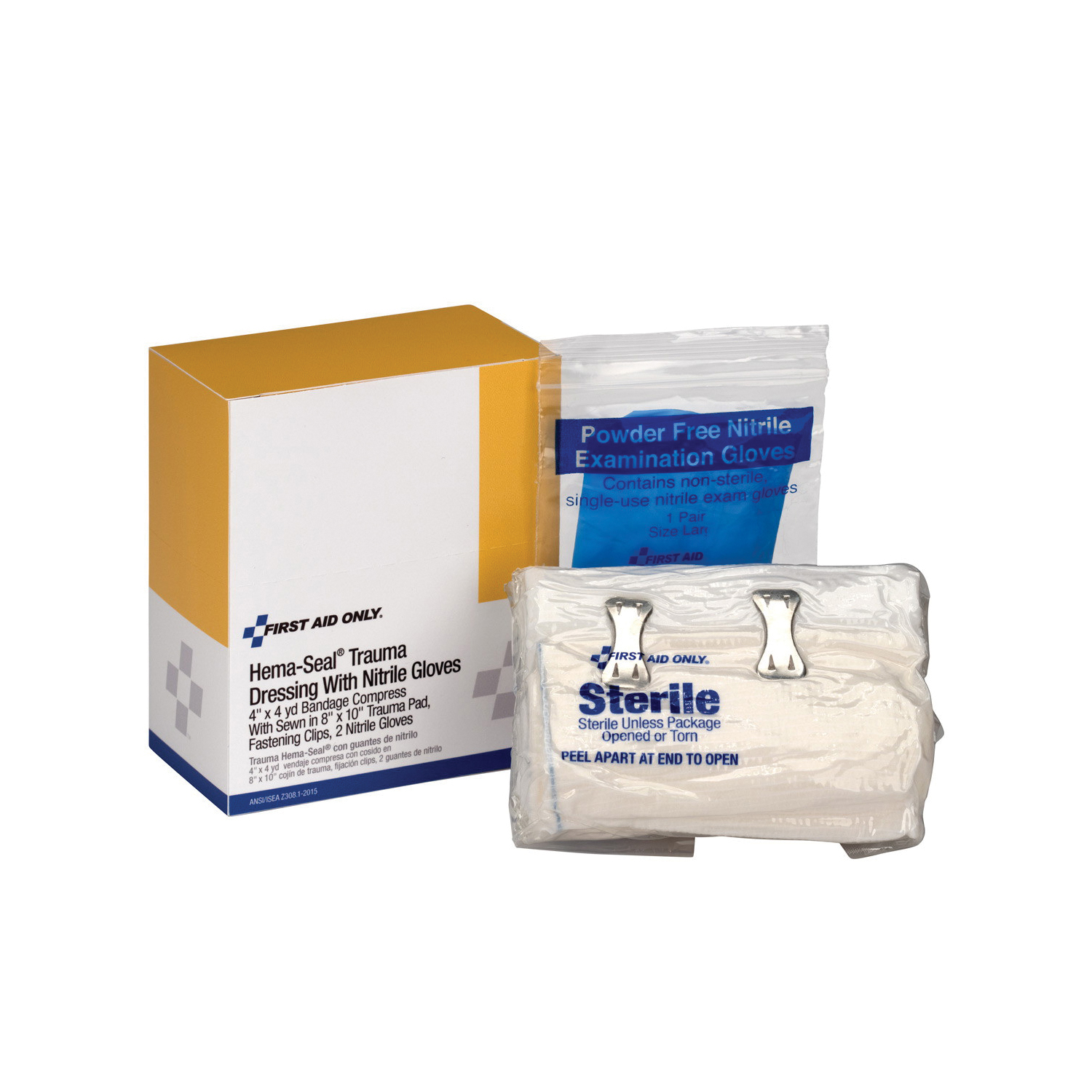 First Aid Only® 2-014 Hema-Seal® Trauma Dressing