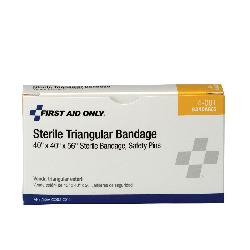 First Aid Only® 4-001-001 Sterile Triangular Bandage, Muslin/Cotton
