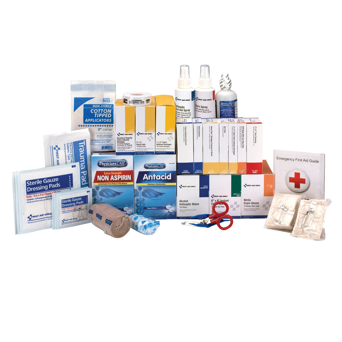 First Aid Only® 90620 First Aid Refill With Medications, 669 Components, Cardboard Case