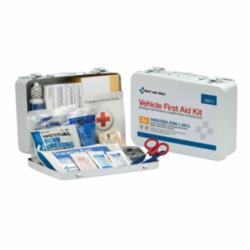 First Aid Only® 90672 Vehicle ANSI A+ First Aid Kit, Surface/Wall Mount, 114 Components, Metal Case, 6 in H x 9.063 in W x 2-3/8 in D