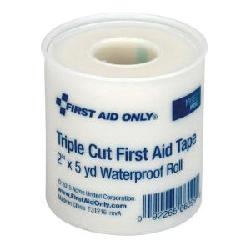 First Aid Only® 90890 Waterproof First Aid Adhesive Tape, 5 yd L x 3/8 in, 5/8 in, 1 in W, Plastic