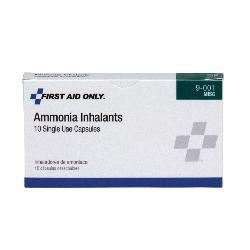 First Aid Only® 9-001-001 Inhalant Capsule, 10 Count, Box Package, Formula: Ammonia