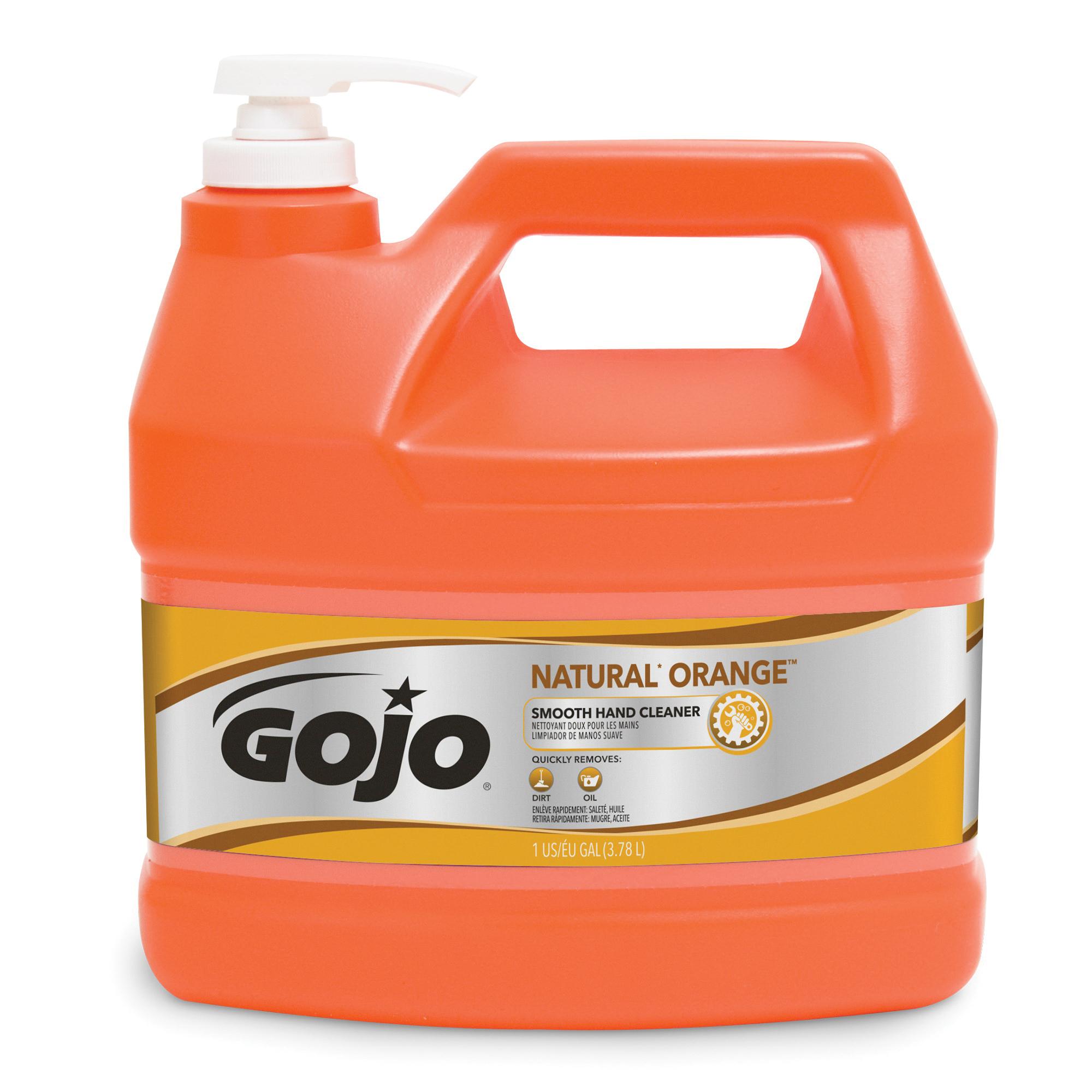 GOJO® 0945-04 NATURAL ORANGE™ Smooth Hand Cleaner, 1 gal, Pump Bottle, Lotion, Citrus, Orange