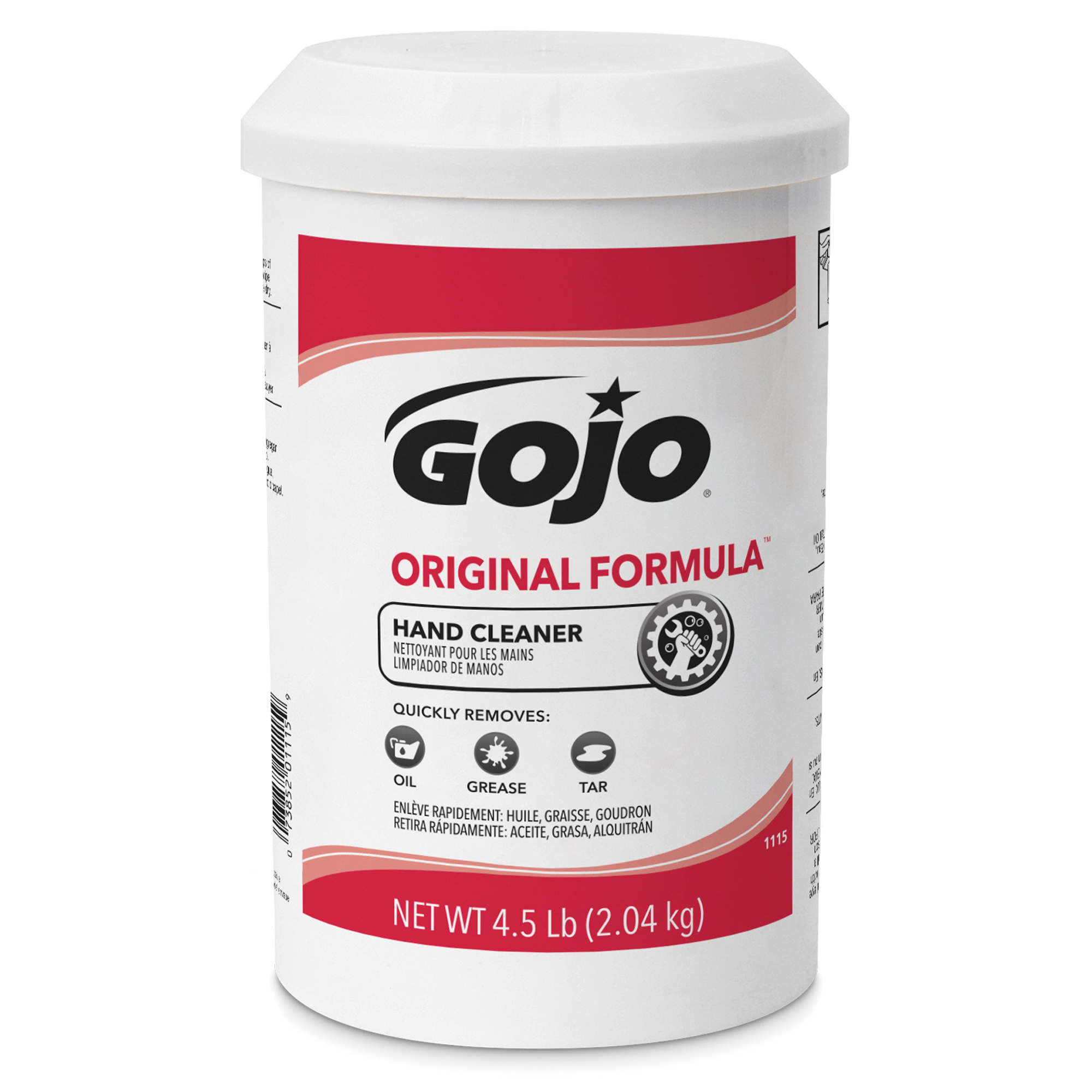 GOJO® 1115-06 ORIGINAL FORMULA™ Hand Cleaner, 4.5 lb Nominal, Cartridge Package, Creamy Form, Solvent Odor/Scent, Opaque White/Yellow