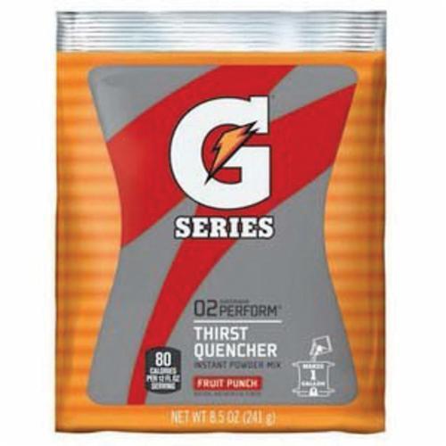 Gatorade® 03808 Instant Sports Drink Mix, 8.5 oz, 1 gal Yield, Powder Form, Fruit Punch