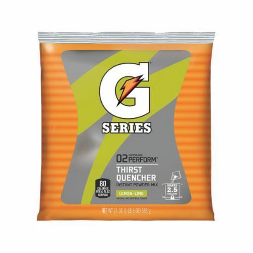 Gatorade® 03969 G Series Sports Drink Mix, 21 oz Pack, 2.5 gal Yield, Powder Form, Lemon Lime