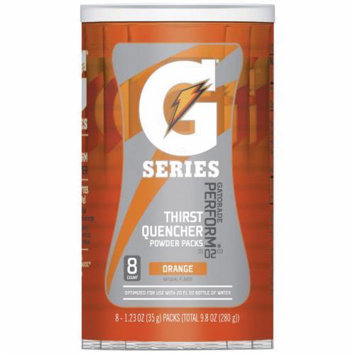 Gatorade® 013165 G Series Sports Drink Mix, 1.34 oz Pack, 20 oz Yield, Powder Form, Orange