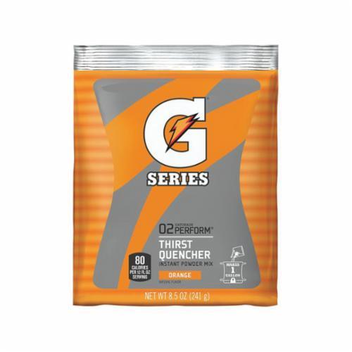 Gatorade® 03957 G Series Sports Drink Mix, 8.5 oz Pack, 1 gal Yield, Powder Form, Orange