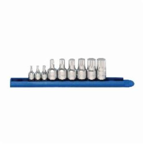 GEARWRENCH® 81100 Stubby Driver Bit Set, 9 Pieces, S2 Steel, Satin/Polished Chrome