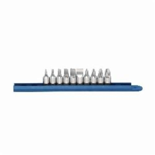 GEARWRENCH® 81180 Stubby Driver Bit Set, 10 Pieces, S2 Steel, Satin/Polished Chrome