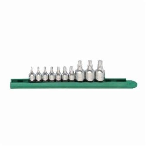 GEARWRENCH® 81196 Stubby Driver Bit Set, 10 Pieces, S2 Steel, Satin/Polished Chrome