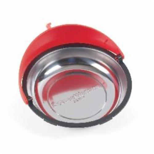 GEARWRENCH® 83104 Circular Universal Magnetic Parts Tray, Polished Chrome, For Use With Tool Box, 6 in Dia, Metal, Red