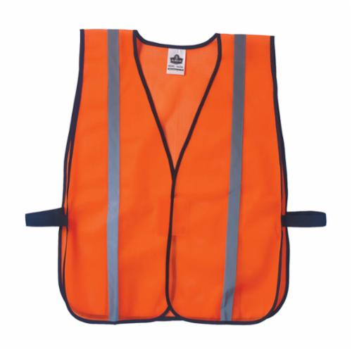 GloWear® 8020HL Non-Certified Standard Vest, Universal, Polyester Mesh, Hook and Loop Closure