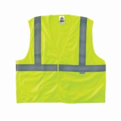 Ergodyne® GloWear® 8255HL Fire Resistant Safety Vest, Hi-Viz Lime, Polyester Solid, Hook and Loop Closure, 1 Pockets, ANSI Class: Class 2, Specifications Met: ANSI/ISEA 107-2015 Type R