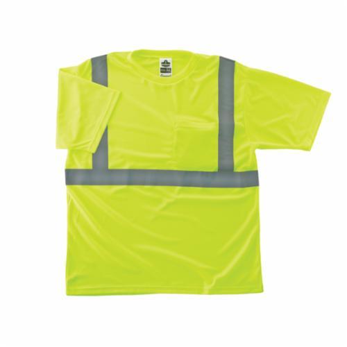 GloWear® 21503 8289 Lightweight T-Shirt, M, Hi-Viz Lime, Bird's Eye Polyester