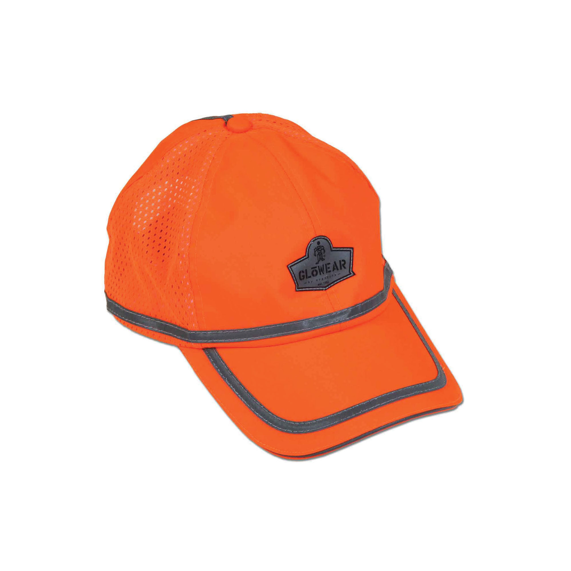 GloWear® 23238 8930 Baseball Cap, Universal, Hi-Viz Orange, 150D Oxford Polyester