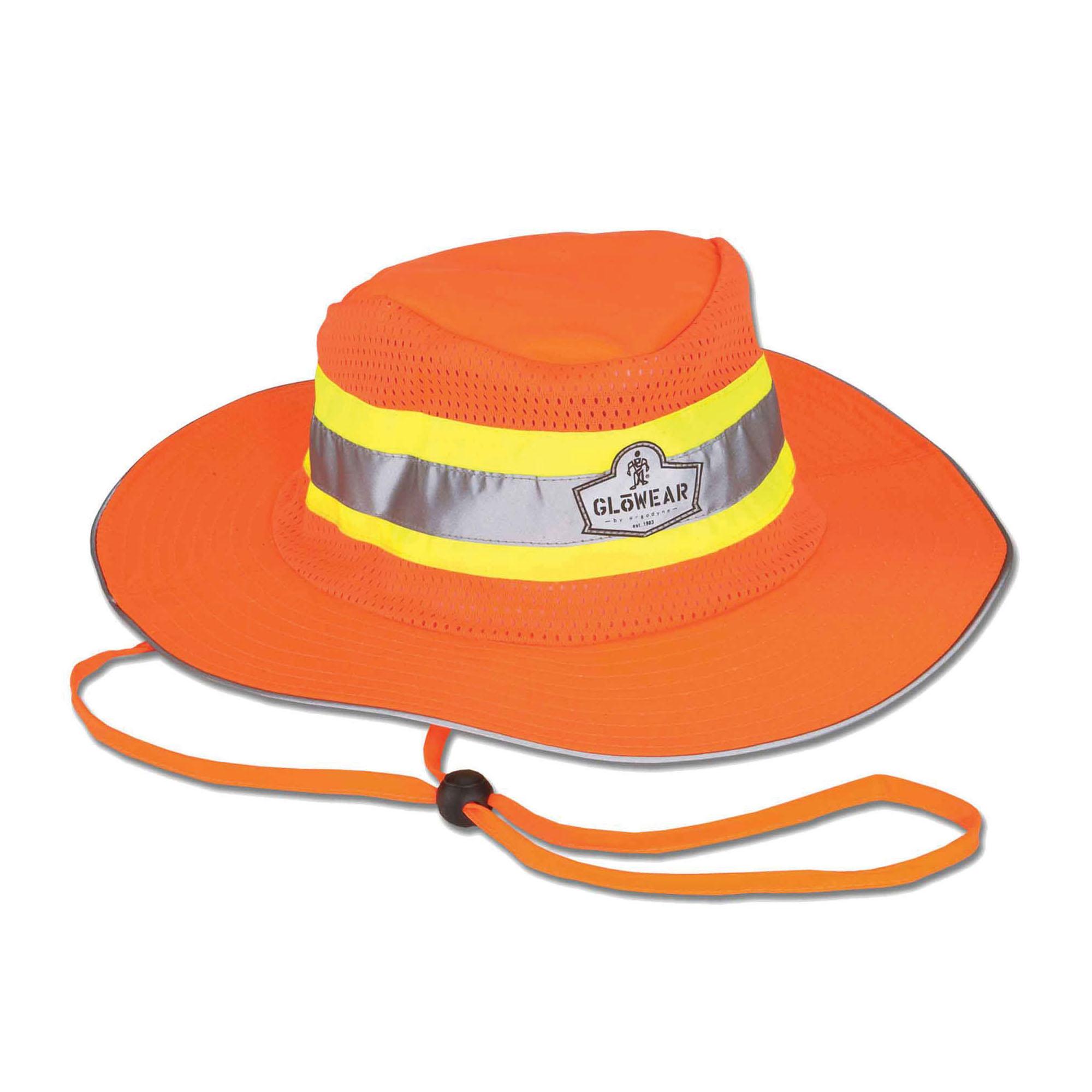 GloWear® 23257 8935 Ranger Hat, S to M, Hi-Viz Orange, 150D Oxford Polyester